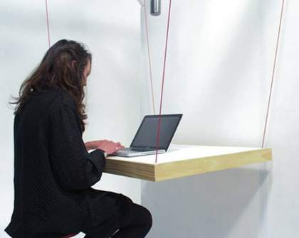 HangTable Doubles as Workspace and Hanger