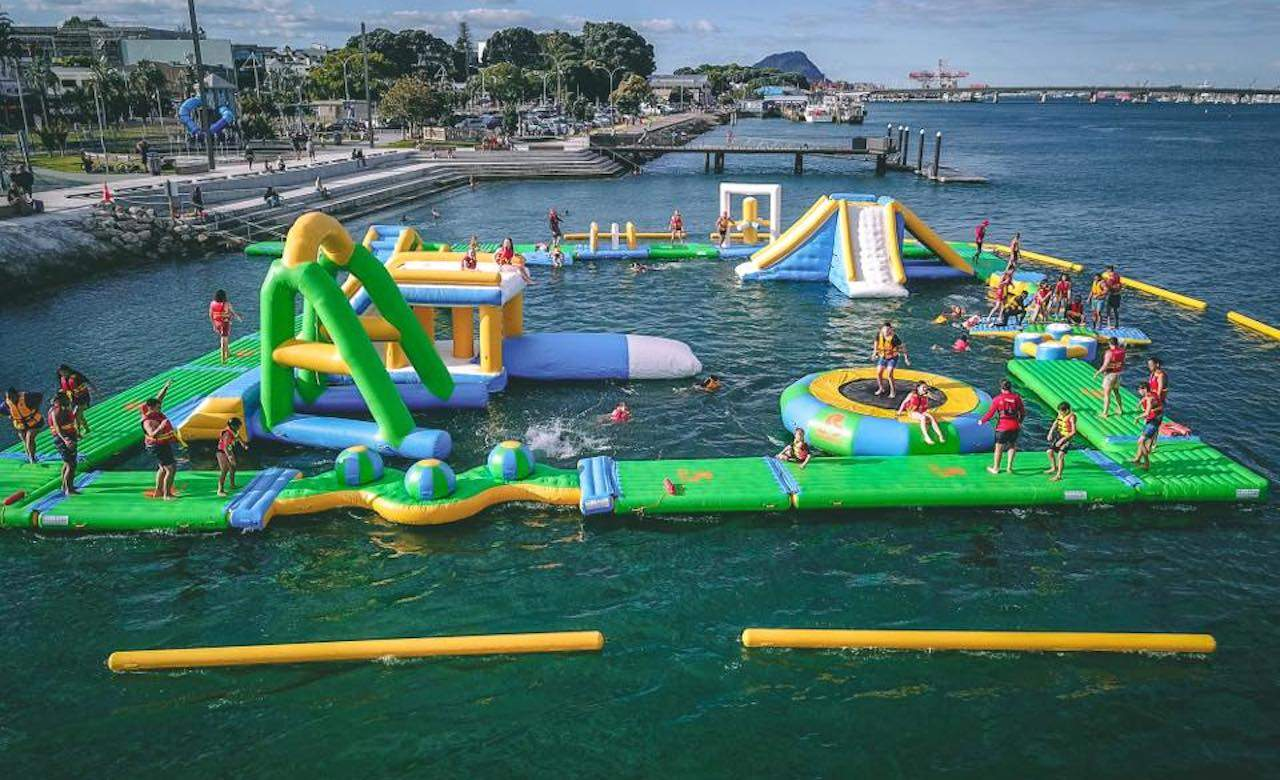 A Wipeout-Style Floating Water Park Is Opening in Tauranga