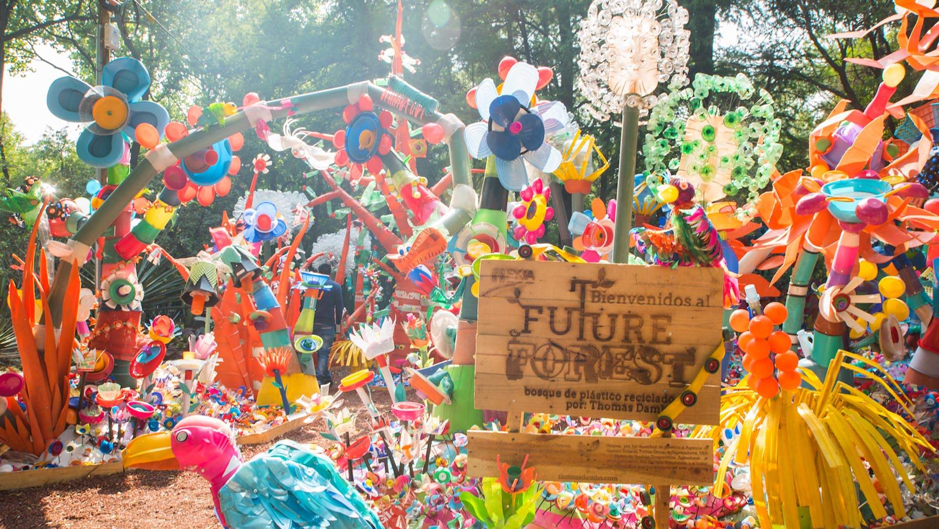 This Colourful Forest Installation Is Entirely Made Out of Discarded Plastics