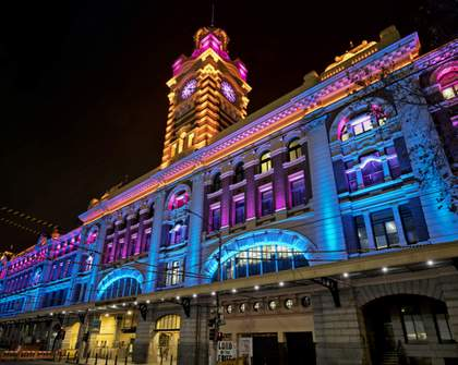 Flinders Street Station Has a Colourful New Light Display