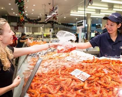 Sydney Fish Market Easter Egg-Stended Trading