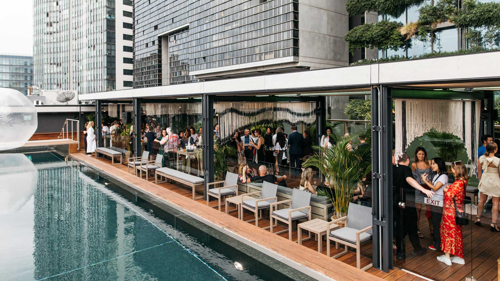 The Old Clare Hotel's Rooftop Poolside Bar Has Reopened to the Public