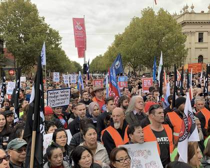 A Union Rally of Thousands of Protestors Has Shutdown Melbourne's CBD