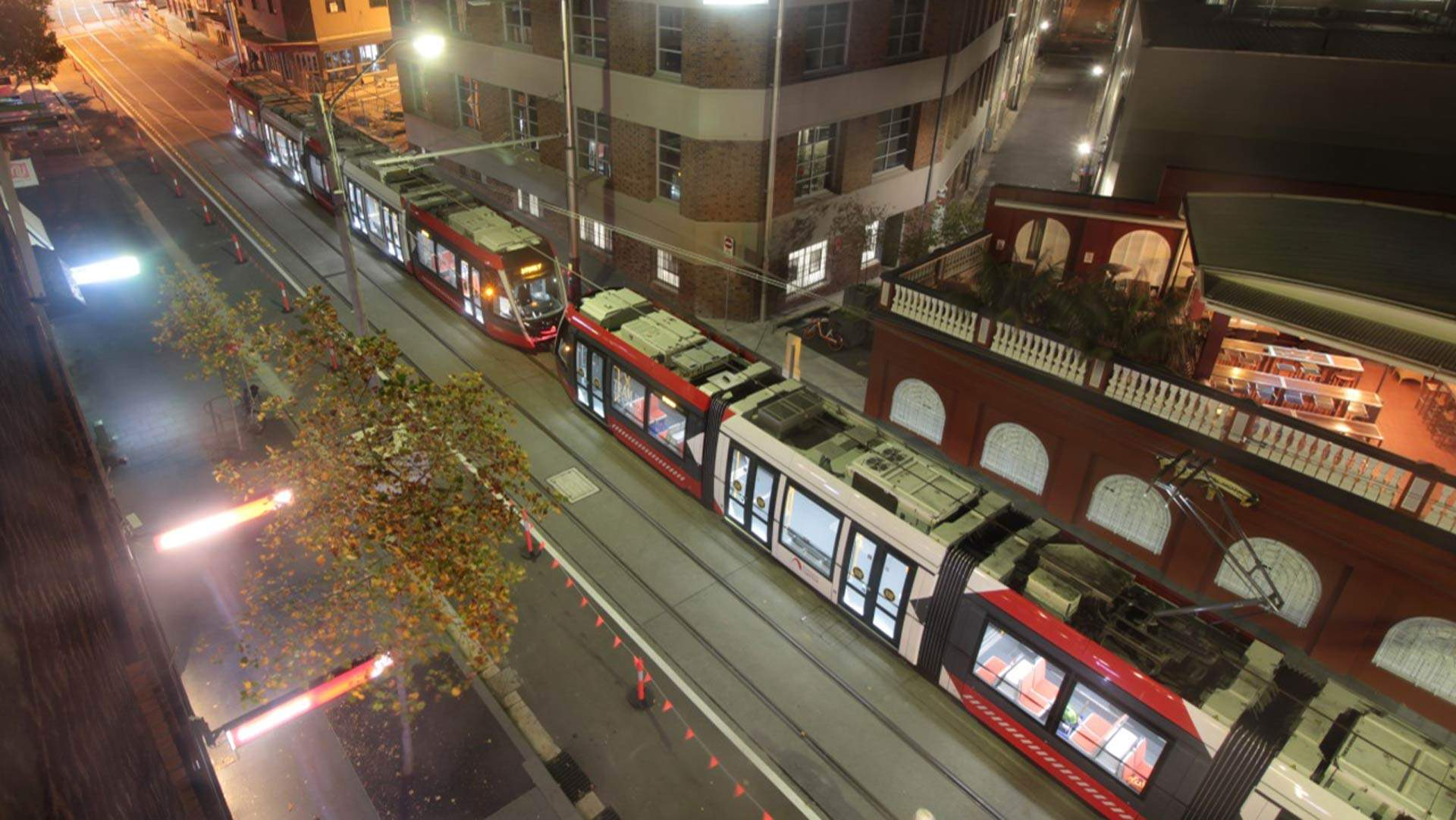 The First Trams Are Now Running on the Surry Hills Section of the CBD and South East Light Rail