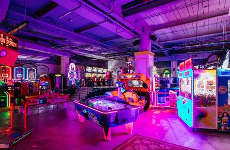 B. Lucky & Sons Is Sydney's New Adult Arcade Bar from the Holey Moley Team