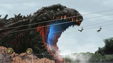 You Can Now Add Ziplining Into a Life-Sized Godzilla Statue to Your Post-Pandemic Travel List